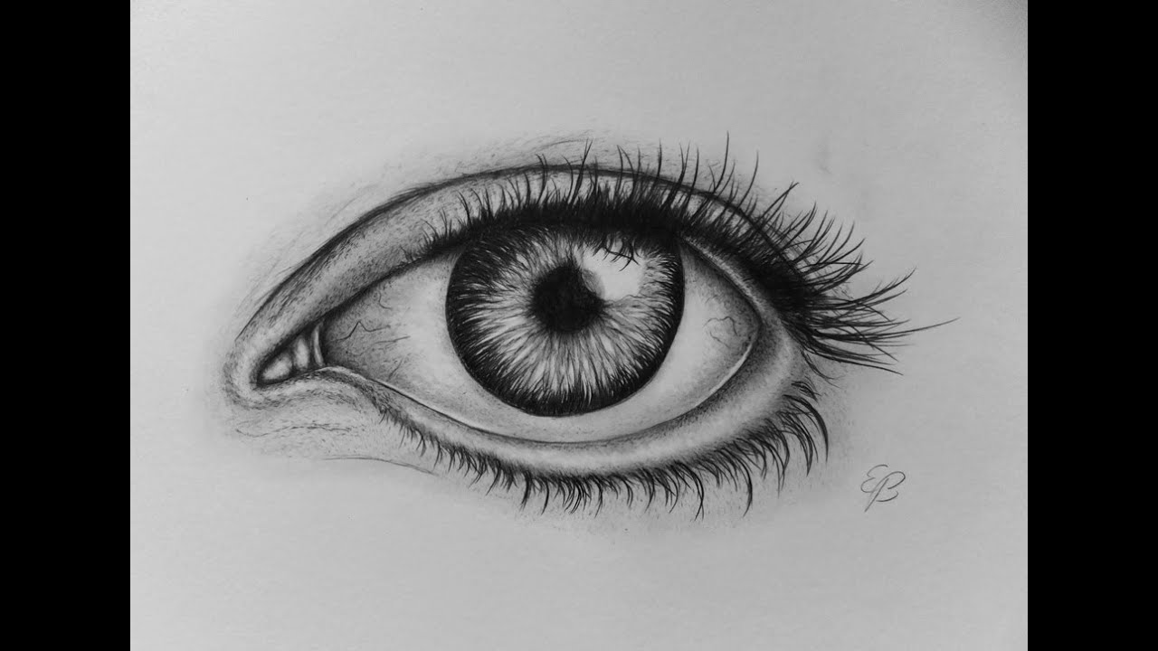 Realistic eye drawing tutorial step by step 2015 youtube