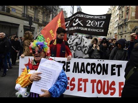 Plusieurs centaines de personnes marchent vers l'Élysée contre la « politiqu... Actualité France