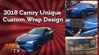 2018 Camry Unique Custom  Wrap Design Project Project 398