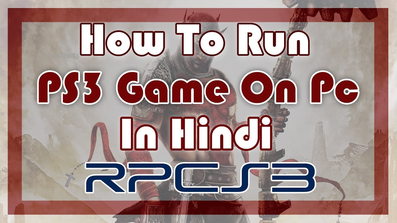 run ps3 game on pc