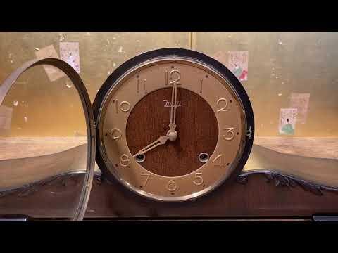 10/30結標 明治機械老發條座鐘  101209 ─茶道具 主題餐廳 收藏 古董家電 機械精工 書房 鐘表 發條鐘