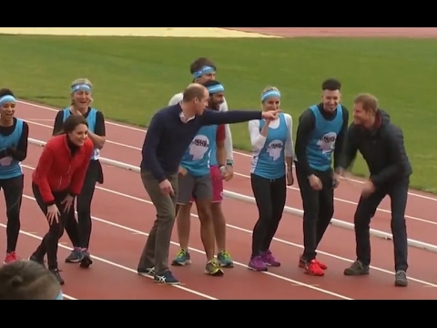 Prince Harry, William & Princess Kate Race for Charity | ABC News