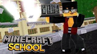 Minecraft School - SCHOOL GETS TAKEN OVER BY A HACKER! w/ Sharky