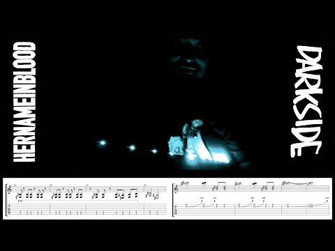 """HER NAME IN BLOOD / """"DARKSIDE"""" OFFICIAL GUITAR PLAYTHROUGH w/TAB"""