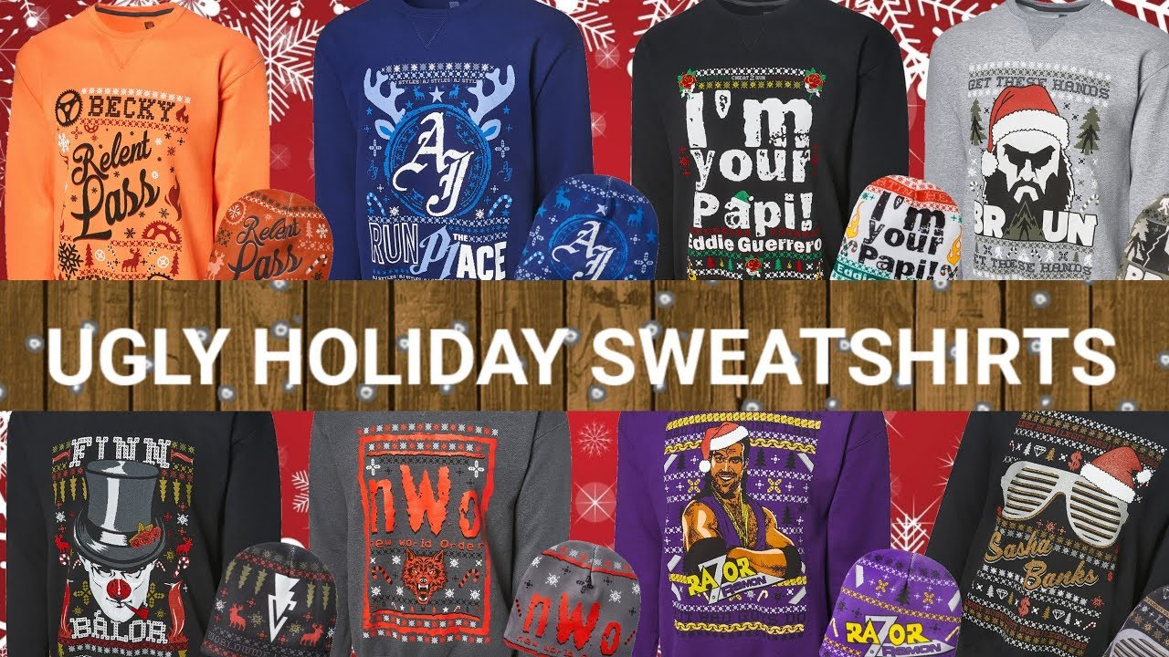 Wwe Sasha Banks Official Merchandise Wweshop Wwe Shop Gift Ideas Wwe Ugly Holiday Sweaters