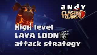 Clash of Clans Greece - Clash with andy - Lava Loon attack strategy