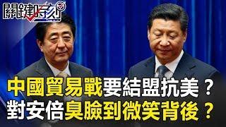 中國貿易戰凍未條要結盟抗美? 對安倍從臭臉到微笑背後意味…? 關鍵時刻 20180913-2 馬西屏 黃創夏 朱學  恒
