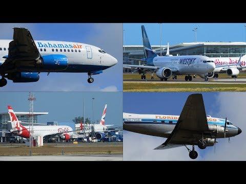 Bahamas | First 2019 Planespotting Compilation | RWY 14 | 11AM-6PM
