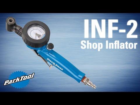 Park Tool INF-2 Bicycle Shop Inflator with Pressure Gauge Dual Valve Presta//Sch