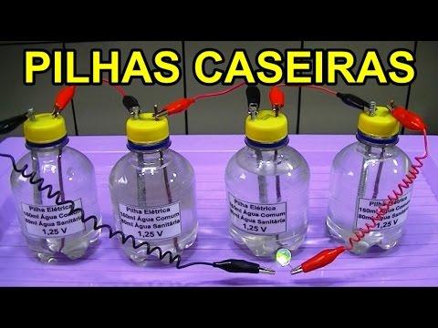 LEI DE OHM COM PILHAS CASEIRAS