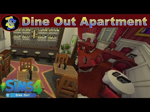 The Sims4 | Dine Out Themed Apartment |