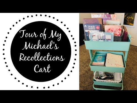 HOW TO ORGANIZE PLANNER SUPPLIES | Michael's Recollection Cart Tour |