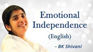 الاستقلال العاطفي: الجزء 1: BK شيفانى (باللغة الإنجليزية)