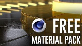 FREE Cinema 4D Material Pack (Advanced Materials)