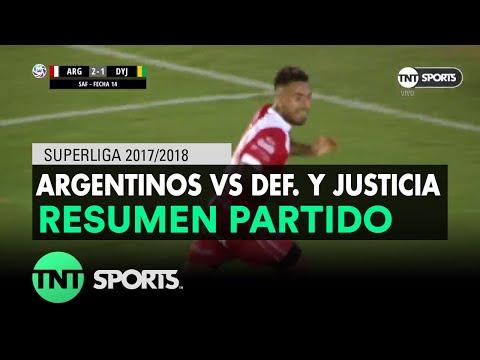 Resumen de Argentinos Jrs. vs Def. y Justicia (2-1)   Fecha 14 - Superliga Argentina 2017/2018