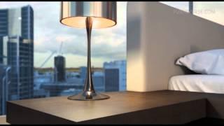 Modloft Worth - Modern Platform Bed In Wenge-warm Gray Leather