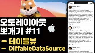 취준생을 위한 아이폰 앱개발 테이블뷰 Diffable dataSource fundamental Tutorial (2020) ios modern uitableview