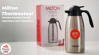 Milton Thermosteel Vacuum Insulated Carafe: Unboxing & First Impressions