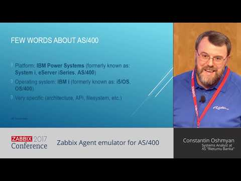Constantin Oshmyan - Zabbix Agent emulator for AS/400