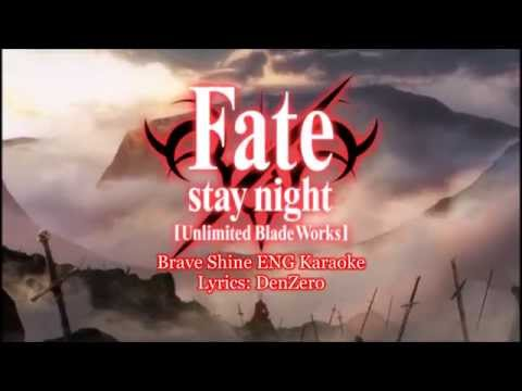 [HD] Fate/stay night UBW OP 2 Creditless Brave Shine English Cover Karaoke