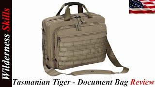 Tasmanian Tiger - Document Bag Review English Version