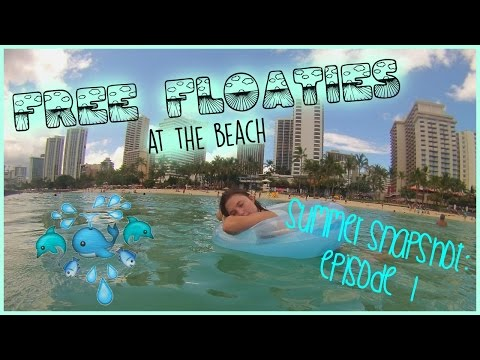 free-floaties-at-the-beach!!-i-summer-snapshot-ep-1-♡