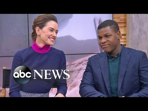 Daisy Ridley, John Boyega Discuss 'Star Wars : The Force Awakens'