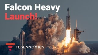 Falcon Heavy Arabsat 6A Launch Party Hosted by Tesla
