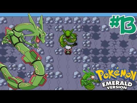 """Pokemon - Emerald #13 จับ """" เรควาซ่า """" โปเกม่อนในตำนาน ( Rayquaza )"""