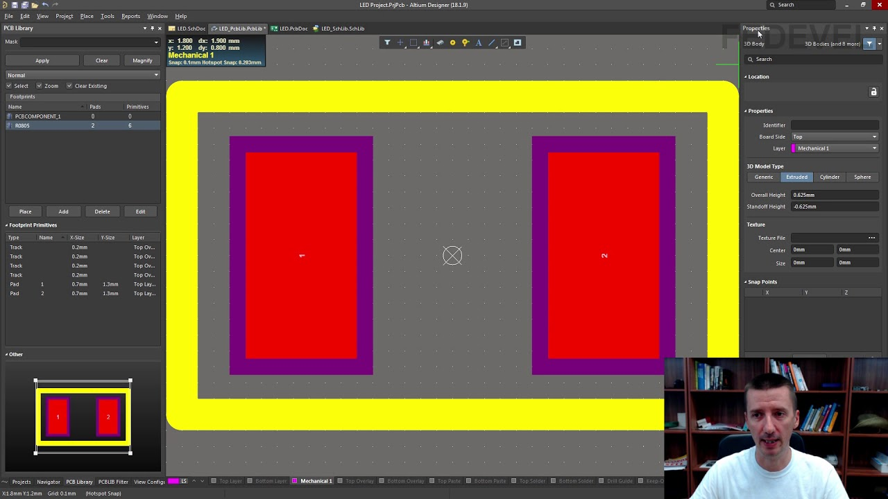 Tutorial 2 for Altium Beginners: How to create footprints