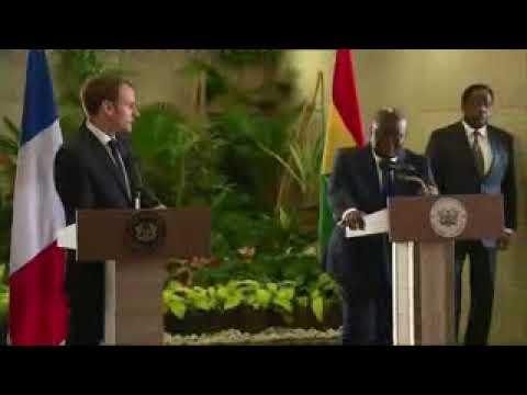 "GREAT SPEECH BY GHANA PRESIDENT NANA AKUFO-ADDO  ""SHOCKS"" FRENCH PRESIDENT MACRON"