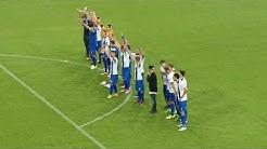 DFB-Pokal 13.08.2017 1. FC Magdeburg nach dem Abpfiff Spielstand 2 : 0