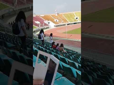 Islamabad VS Rawalpindi girls football match at Jinnah sports complex.