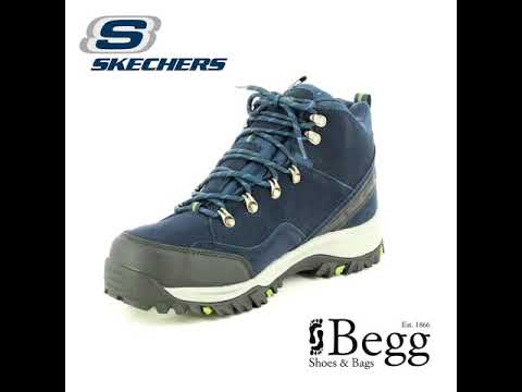Skechers Relment Pelmo Mens Waterproof Suede Boots Navy at