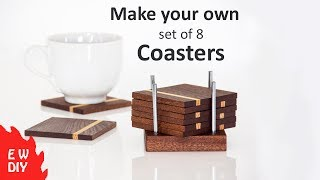 How to make a set of coasters