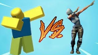 Making Fortnite dances in Roblox with imagination