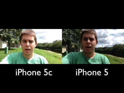 iPhone 5c vs. iPhone 5: NEW Front-Facing Camera Test (720p HD)