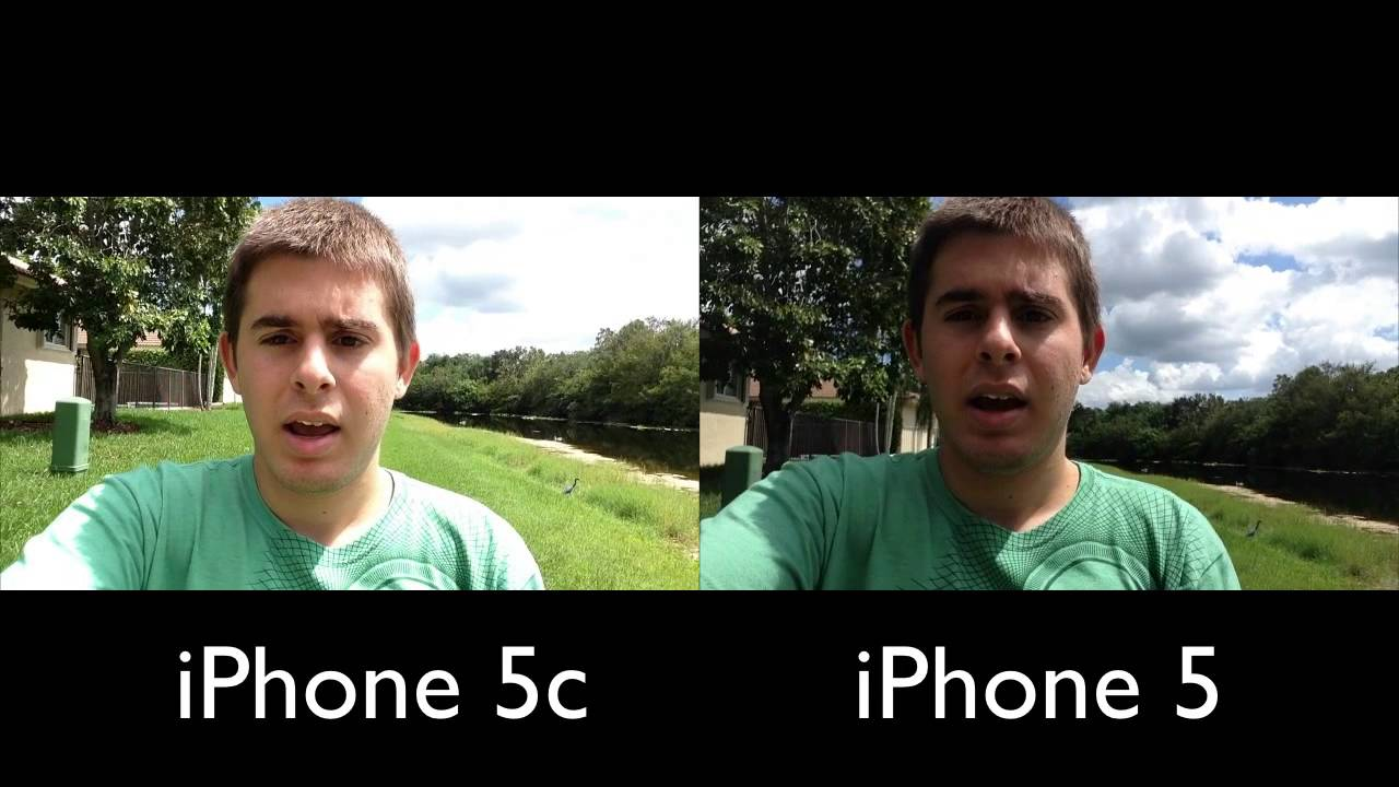 iphone 5 vs 5c front camera