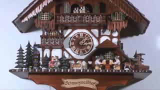 Cuckoo Clock 8-day-movement Chalet-style 60cm By Anton Schneider