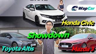 2020 Honda Civic Turbo vs Toyota Corolla Altis vs Mazda 3, Which C-Segment Sedan to Buy?!