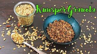 GRANOLA REZEPT | KNUSPERMÜSLI selber machen [gesund & schnell selbstgemacht] DIY Frühstücksideen