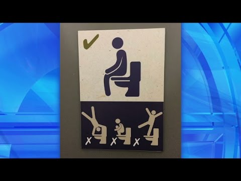 Thumbnail: What's Wrong with These Signs? Signs: Bathroom Etiquette