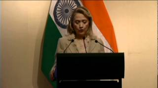 Secretary Clinton Delivers Remarks With Indian External Affairs Minister Krishna
