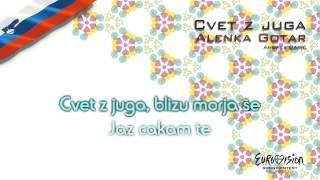 alenka gotar cvet z juga slovenia karaoke version