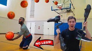 TRICK SHOT H.O.R.S.E. vs MAN WITH NO LEGS!