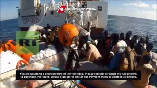 Libya: Italy intercepts HUNDREDS of migrants en route to Europe