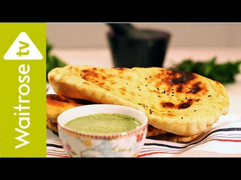 Anjum anands quick and easy naan with creamy mint chutney anjum anands quick and easy naan with creamy mint chutney waitrose forumfinder Gallery