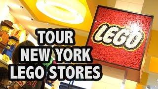 Inside Both Manhattan LEGO Stores (New York City)