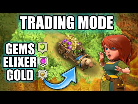 TRADING IN CLASH OF CLAN WITH GAMEPLAY (UPDATE CONCEPT)