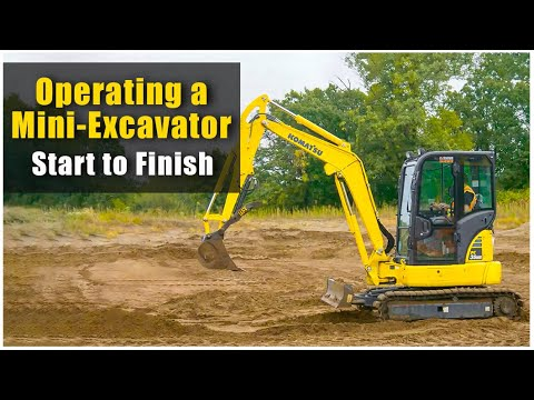 How To Operate A Mini Excavator (2019): Pre-Op To Shut Down   Heavy Equipment Operator